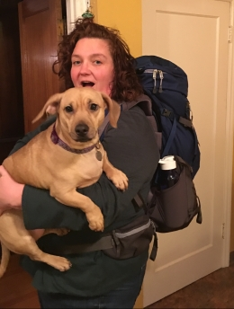 Backpack plus weiner bull